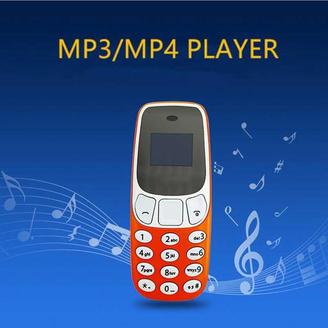 BM10 Pocket Mini GSM Mobile Phone Bluetooth Dialer Headset Cellphone Orange - 3