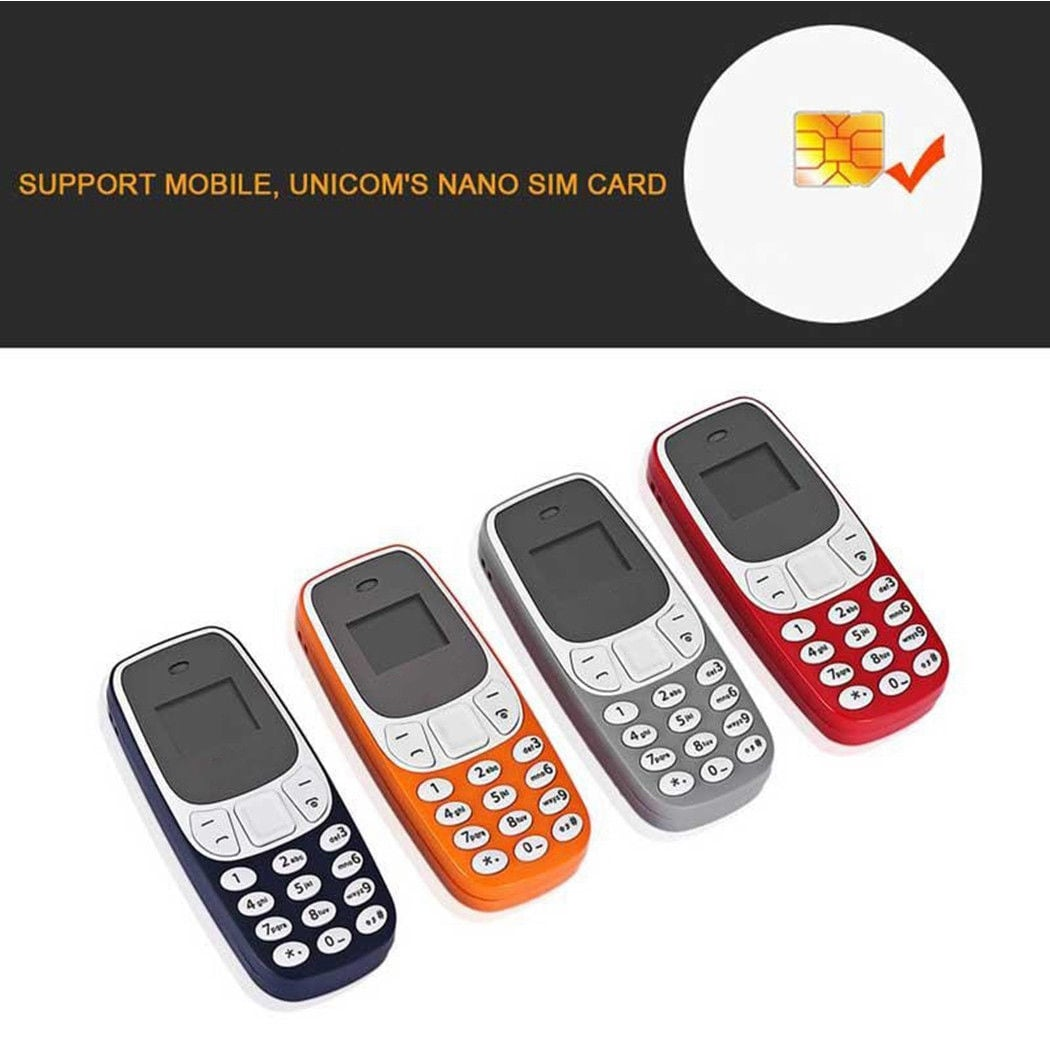 BM10 Pocket Mini GSM Mobile Phone Bluetooth Dialer Headset Cellphone Orange - 1