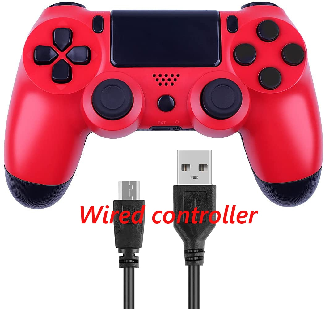 PS4 Wired Controller Dual Shock 4 Gamepad For Sony Playstation 4 Red - 1