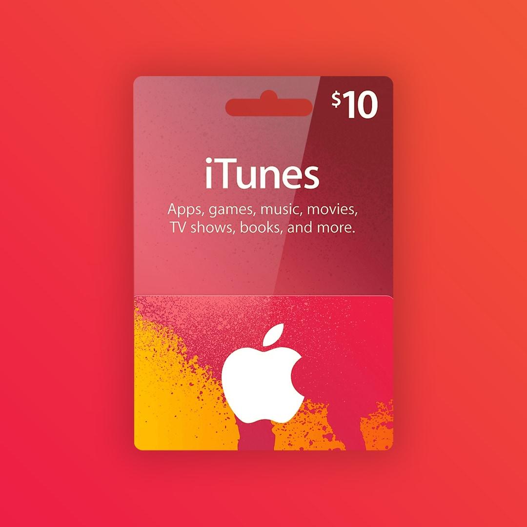 Apple iTunes Gift Card 10 USD iTunes NORTH AMERICA - 2
