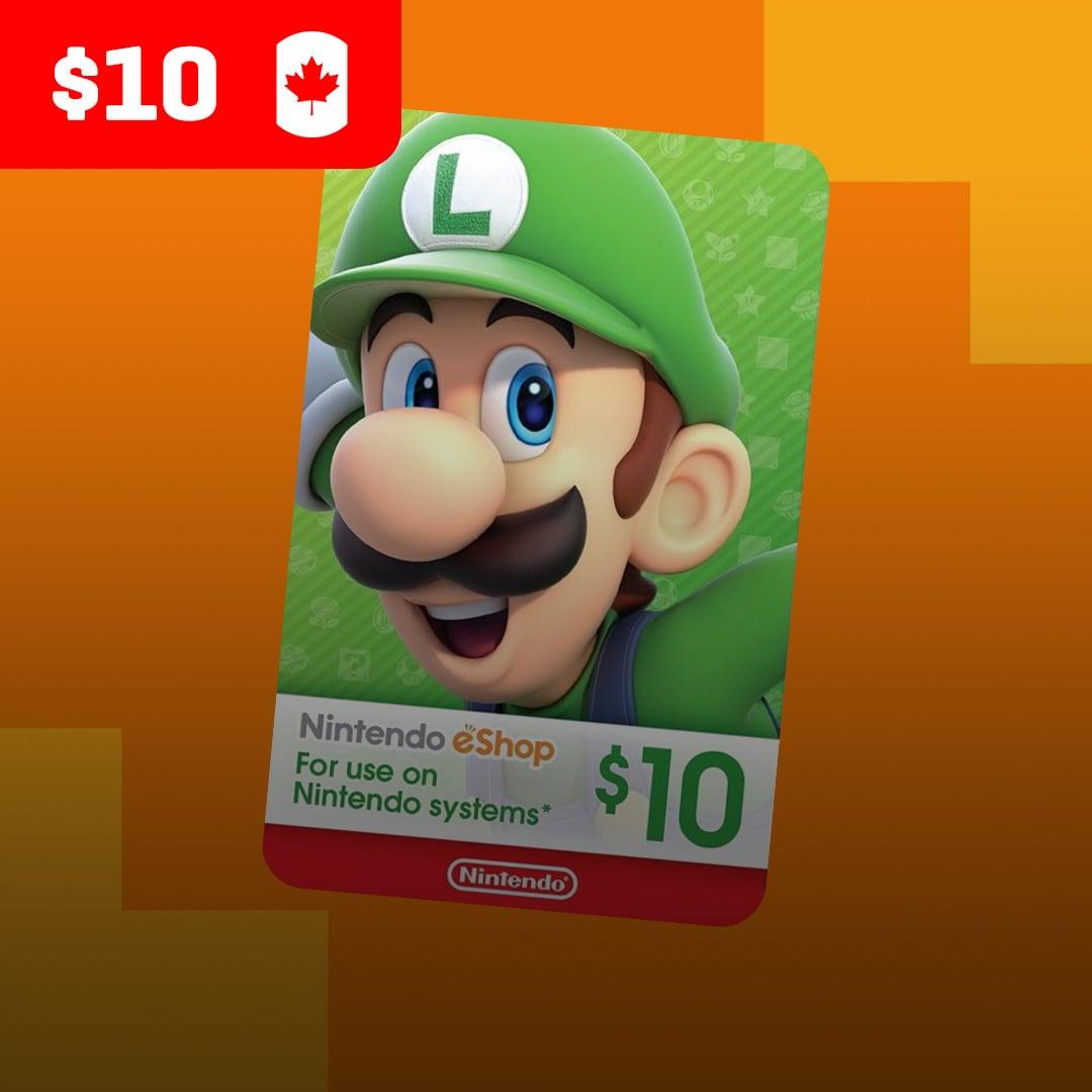Nintendo eShop Card 10 CAD Nintendo CANADA - 2