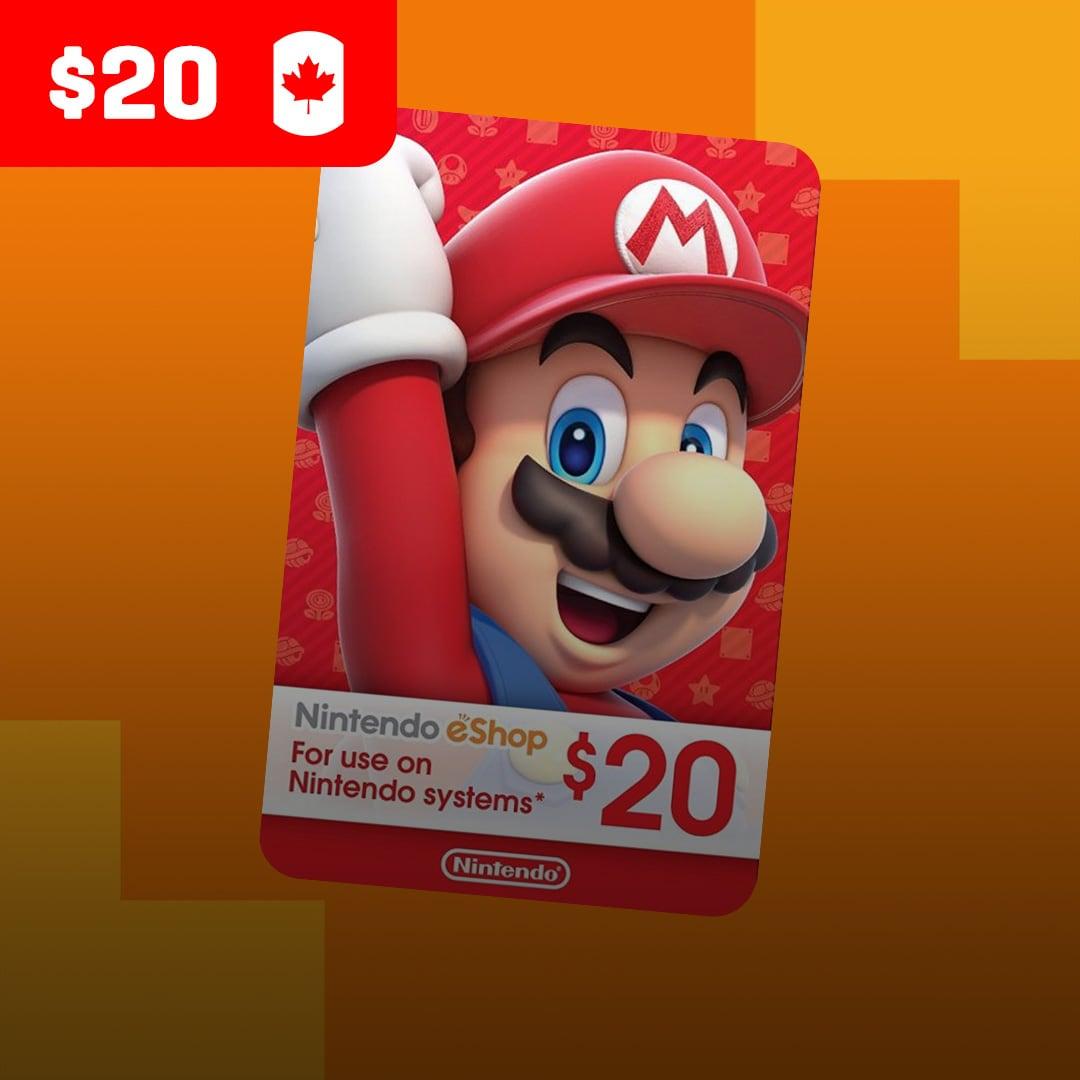 Nintendo eShop Card 20 CAD Nintendo CANADA - 2