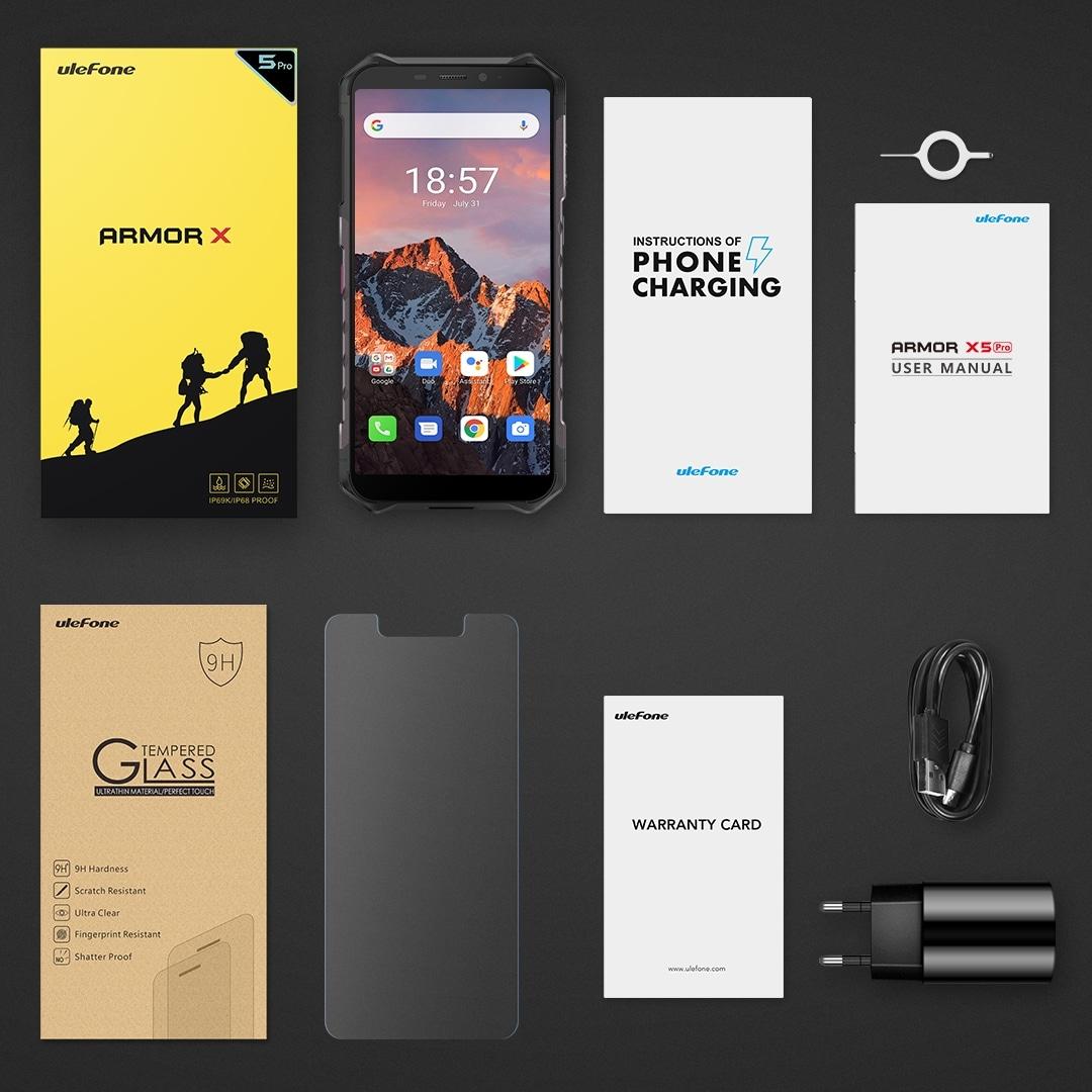Ulefone Armor X5 Pro Rugged Phone 4GB+64GB (Black) - 2