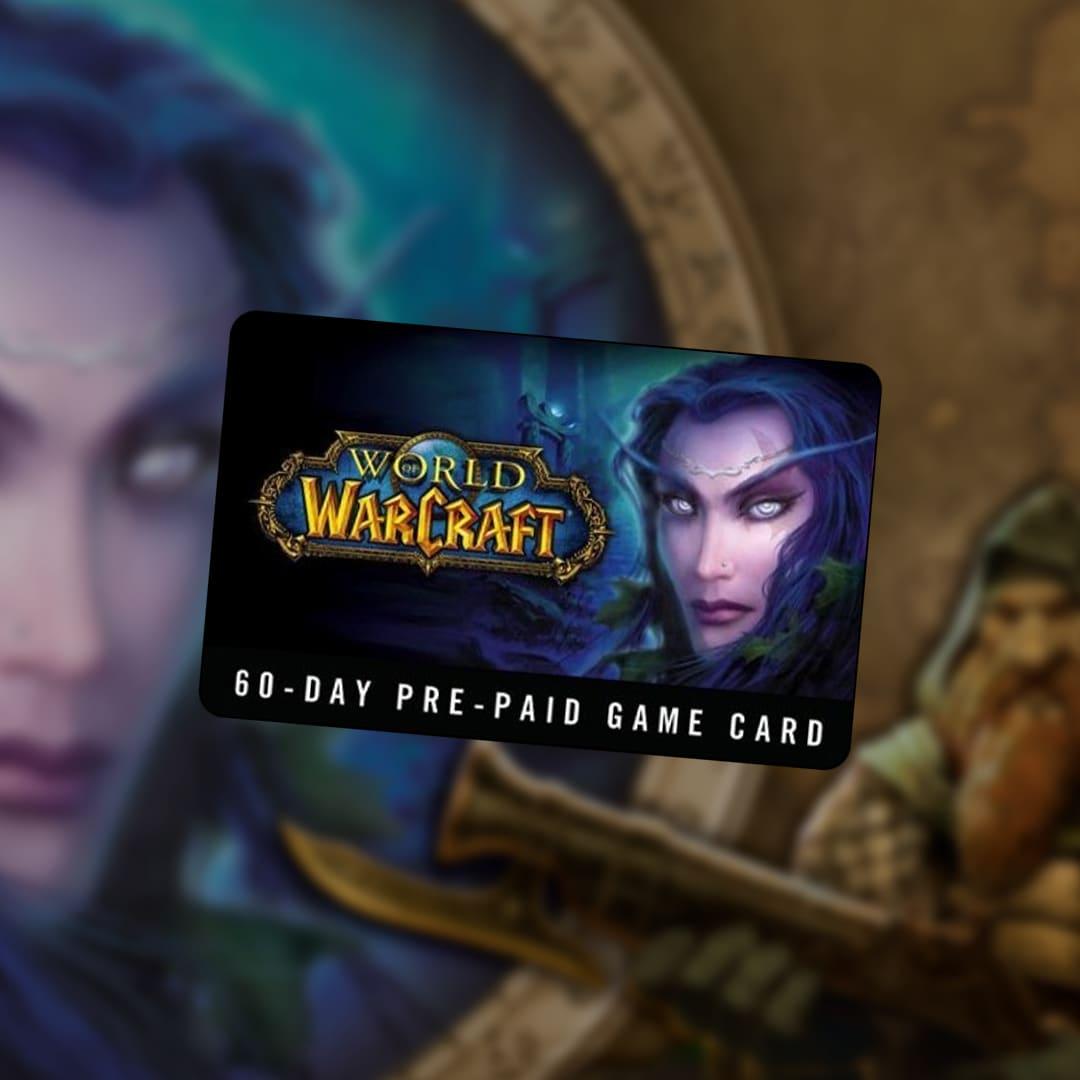 World of Warcraft Time Card Prepaid 60 Days Battle.net NORTH AMERICA - 2