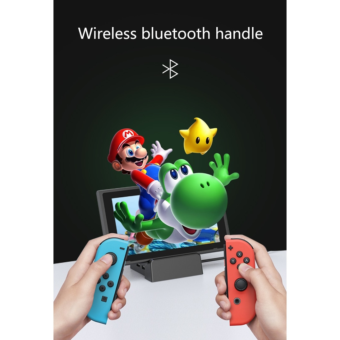 Wireless Joysticks for Nintendo Switch (L and R) Yellow Green - 5