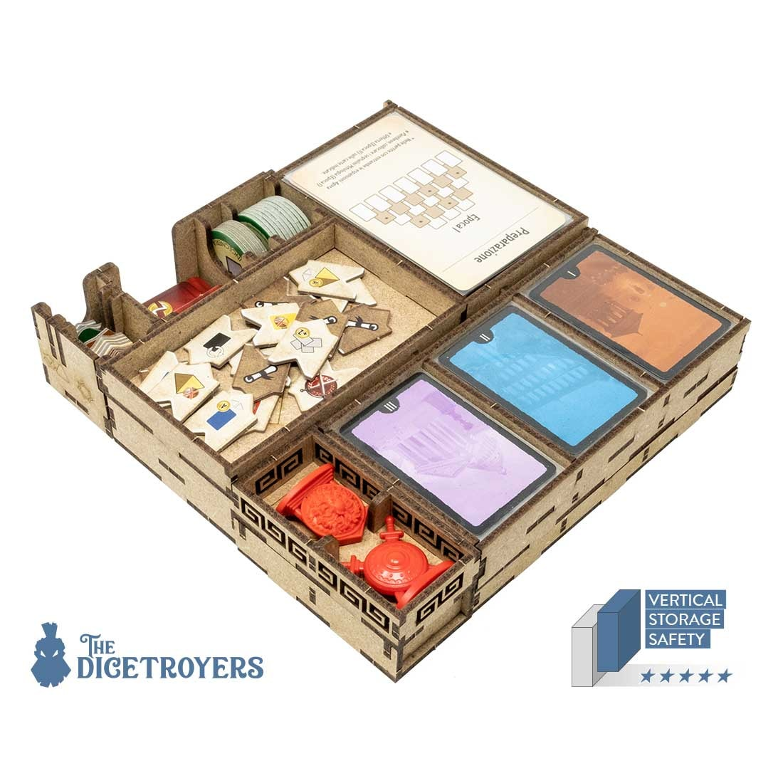 7 Wonders – Duel (Base Game Or With Pantheon; Agora Exp) Organizer Insert - 1