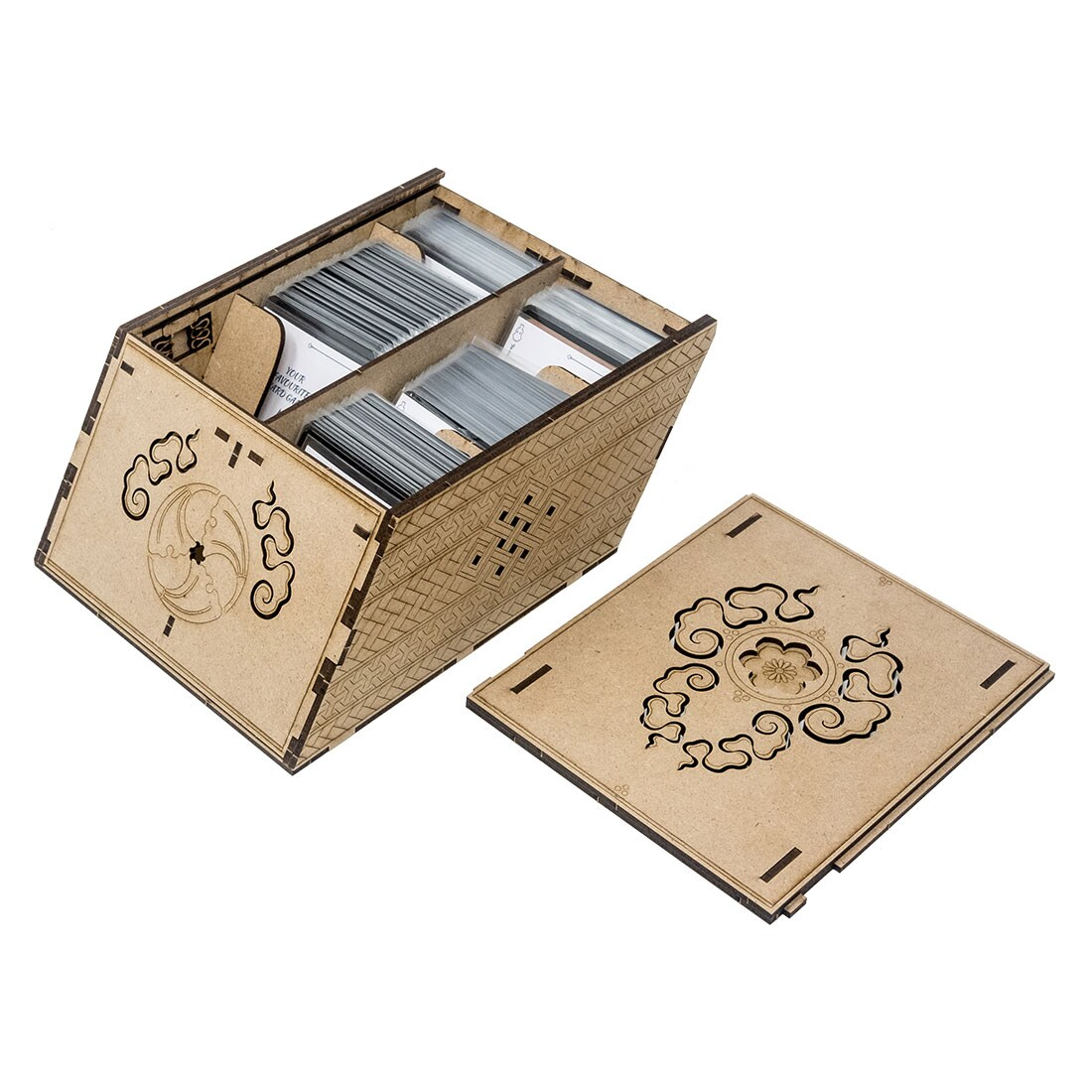Deck holder (500 standard size sleeved cards) Cherry - 4
