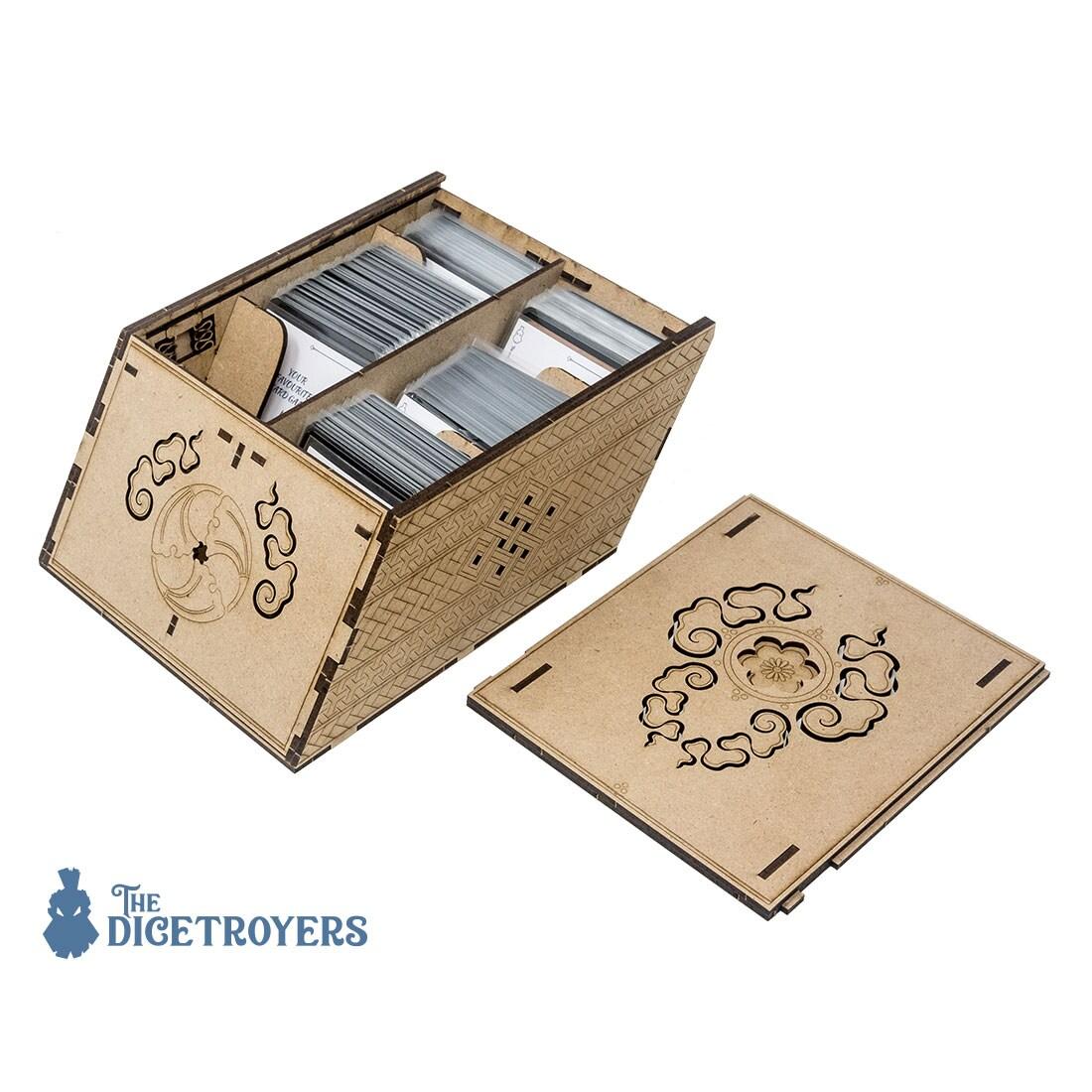 Deck holder (500 standard size sleeved cards) Cherry - 5