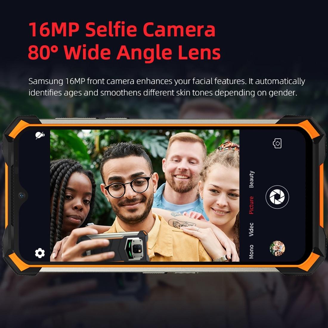 DOOGEE S88 Pro Rugged Phone, 6GB+128GB ( Orange ) - 6