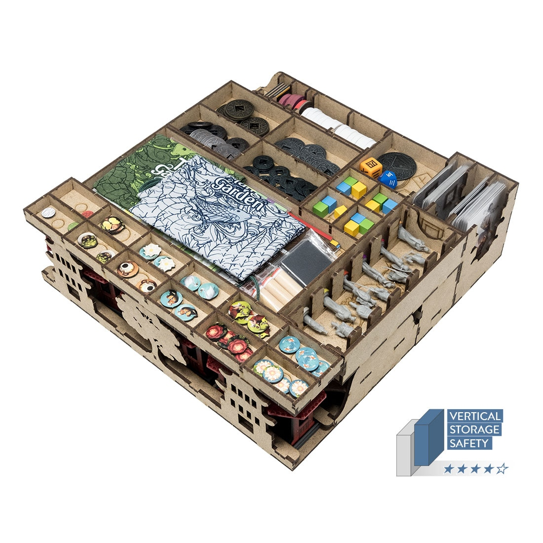 Tang Garden (Base Game Or With Ghost Stories; Golden Age Exp) Organizer Insert - 1