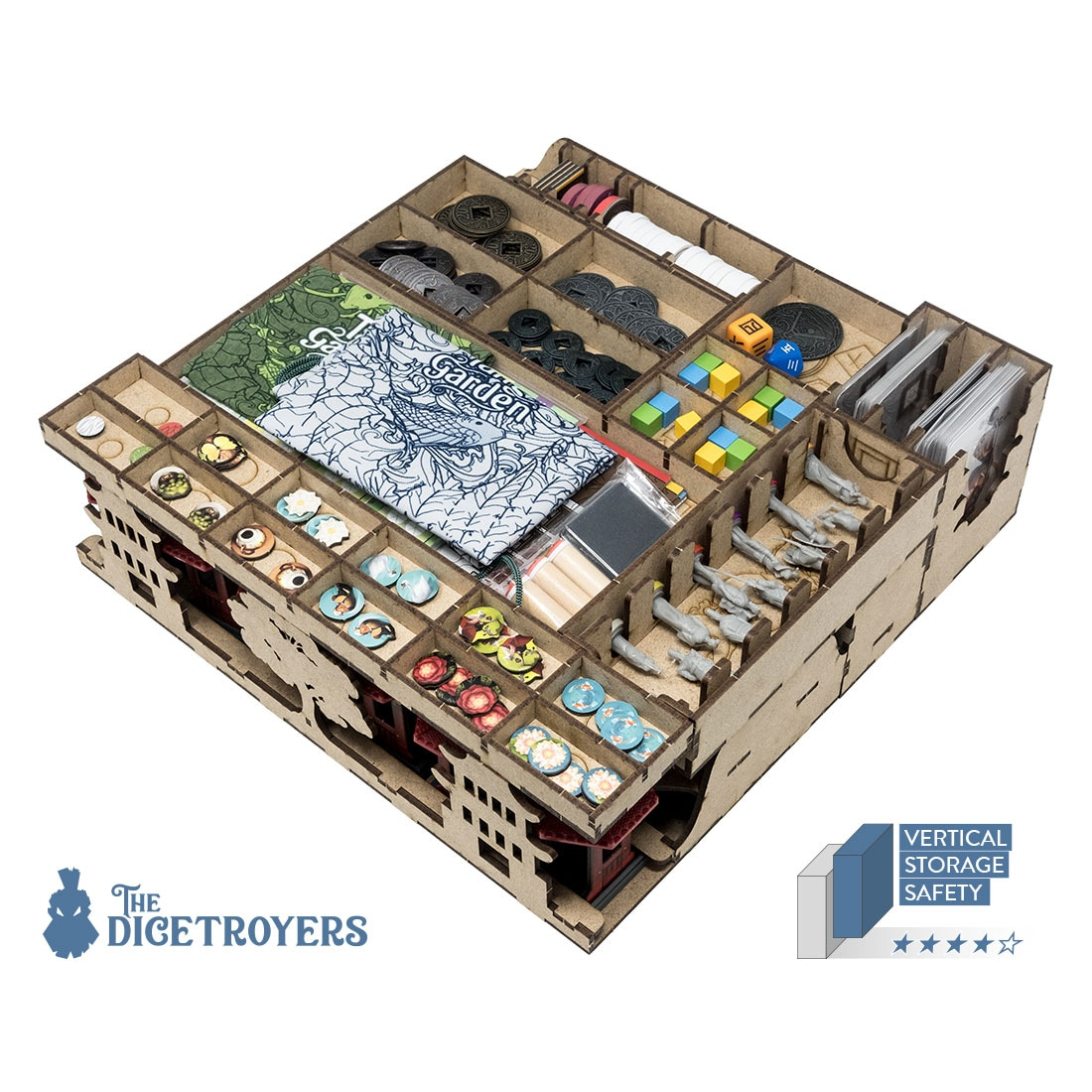 Tang Garden (Base Game Or With Ghost Stories; Golden Age Exp) Organizer Insert - 2
