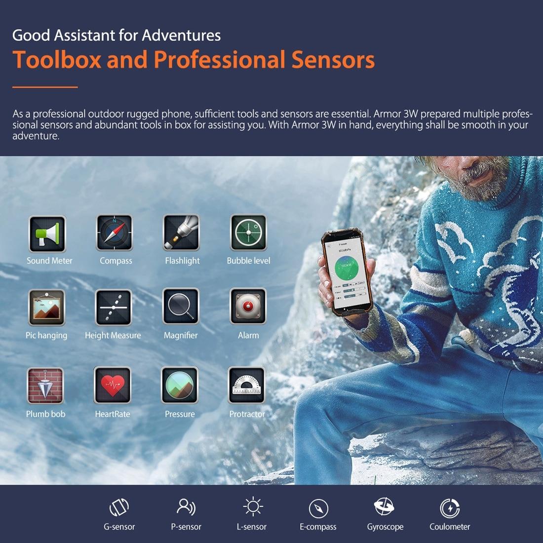 Ulefone Armor 3W Rugged Phone Dual 4G 6GB+64GB (Black) - 5