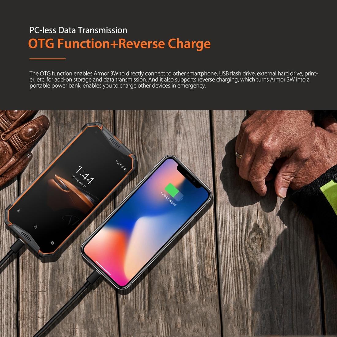 Ulefone Armor 3W Rugged Phone Dual 4G 6GB+64GB (Black) - 8