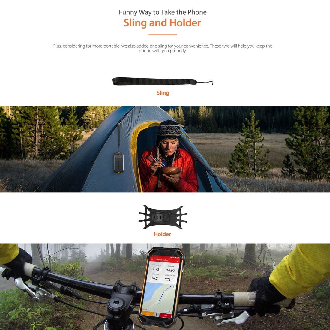 Ulefone Armor 3W Rugged Phone Dual 4G 6GB+64GB (Orange) - 8