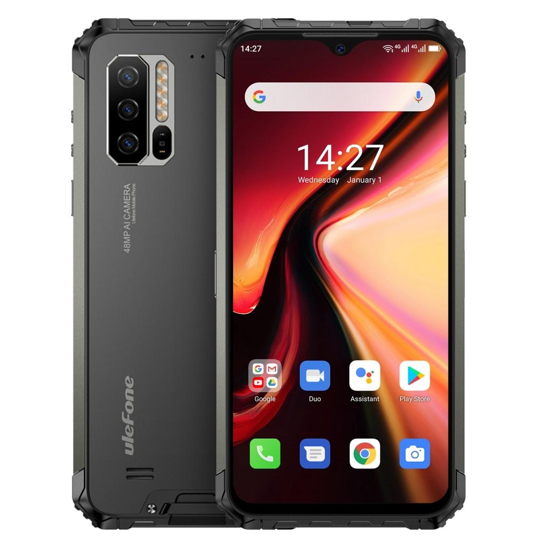 Ulefone Armor 7 Rugged Phone 48MP Camera 8GB+128GB (Black) - 1