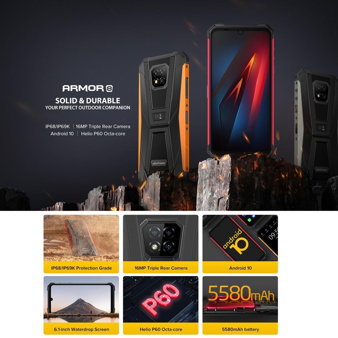 Ulefone Armor 8 Rugged Phone 4GB+64GB (Black) - 3