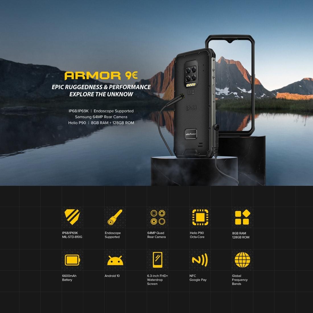 Ulefone Armor 9E Rugged Phone 64MP Camera 8GB+128GB (Black) - 3