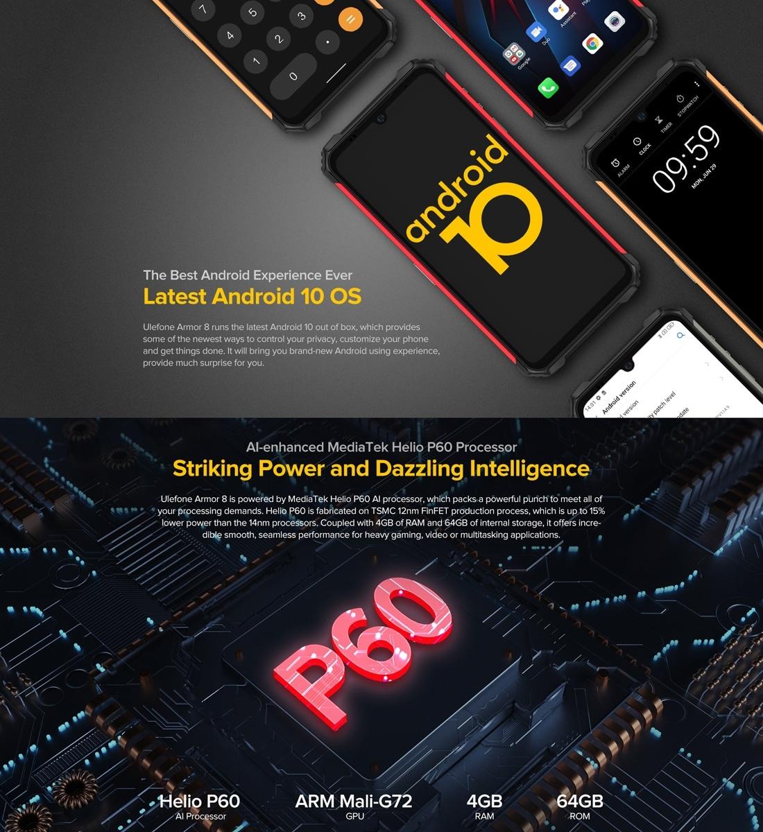 Ulefone Armor 8 Rugged Phone 4GB+64GB (Black) - 4