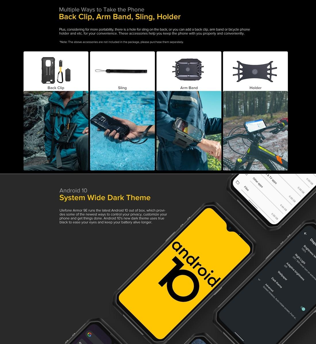 Ulefone Armor 9E Rugged Phone 64MP Camera 8GB+128GB (Black) - 6