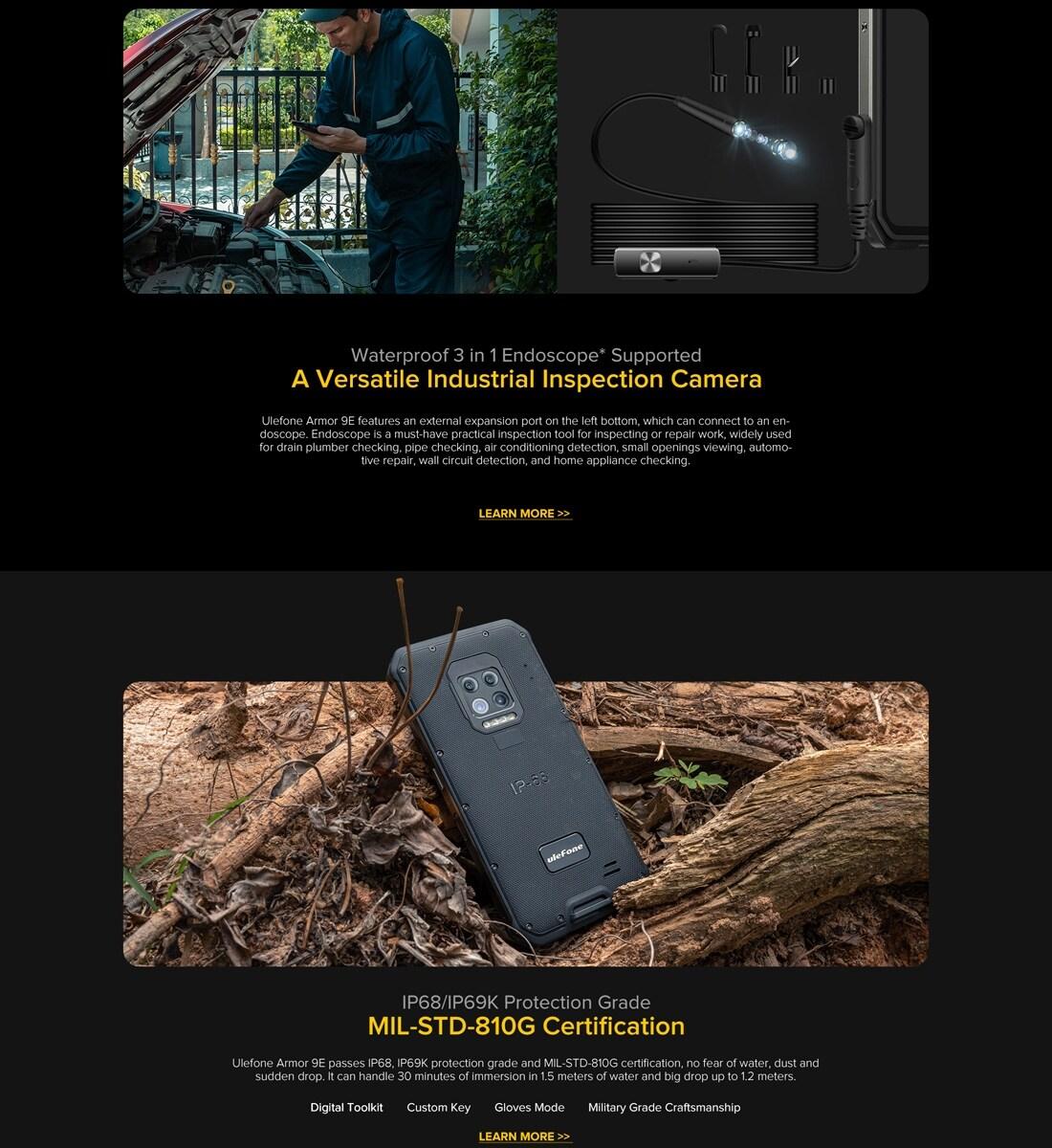 Ulefone Armor 9E Rugged Phone 64MP Camera 8GB+128GB (Black) - 8