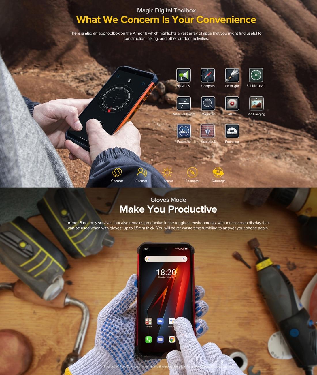 Ulefone Armor 8 Rugged Phone 4GB+64GB (Black) - 5