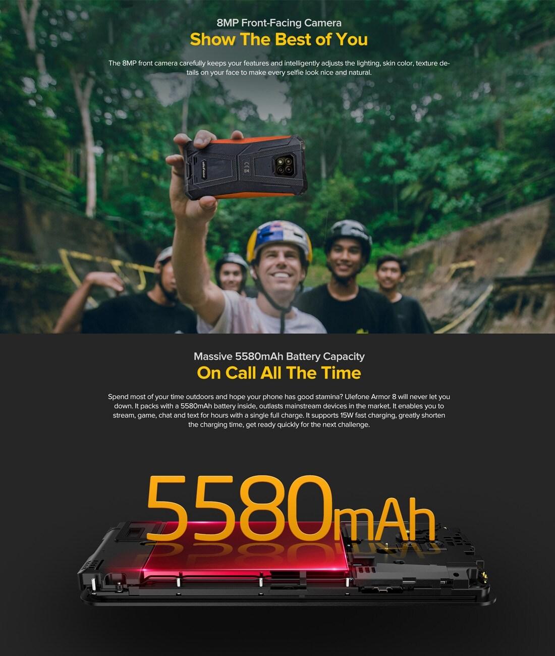 Ulefone Armor 8 Rugged Phone 4GB+64GB (Black) - 6