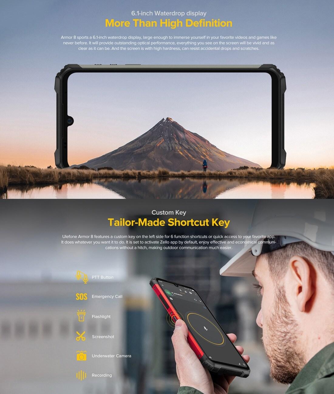 Ulefone Armor 8 Rugged Phone 4GB+64GB (Black) - 8