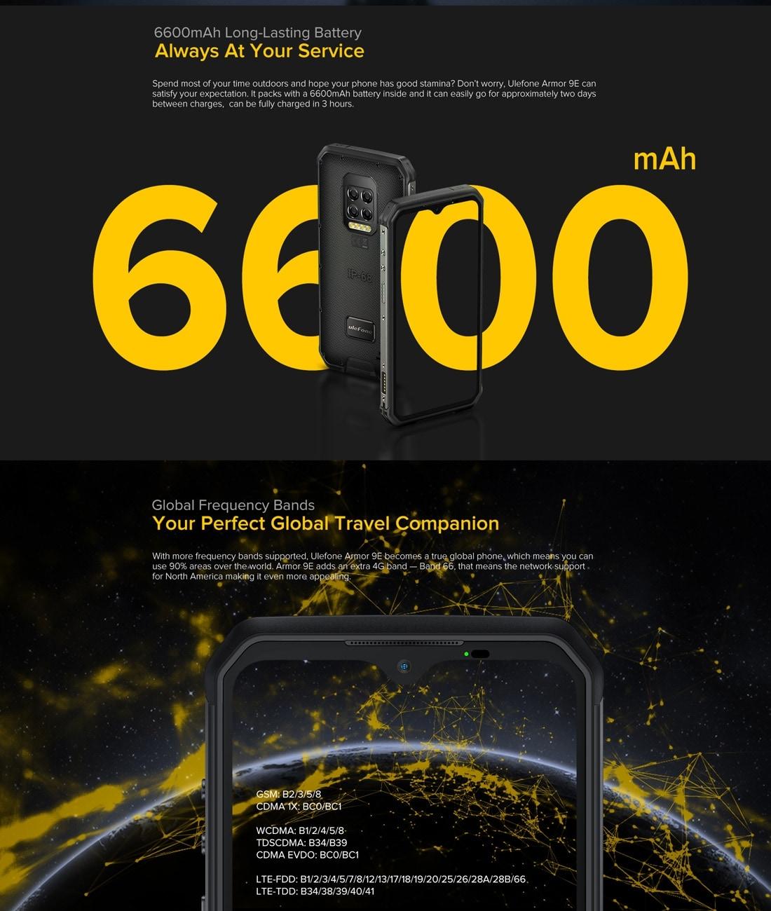 Ulefone Armor 9E Rugged Phone 64MP Camera 8GB+128GB (Black) - 5