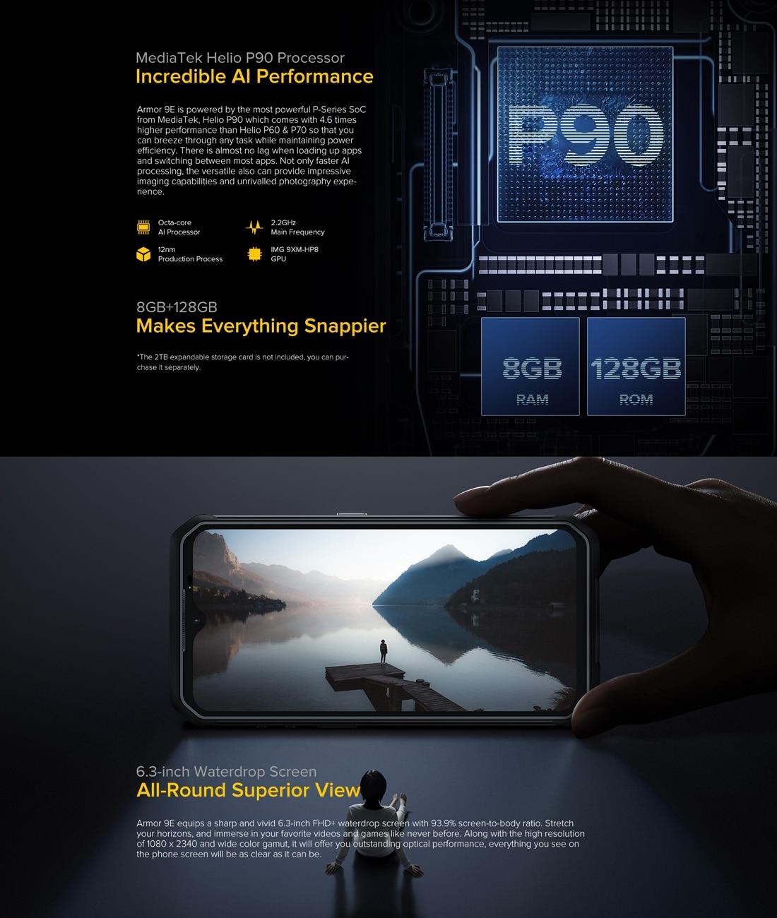 Ulefone Armor 9E Rugged Phone 64MP Camera 8GB+128GB (Black) - 7