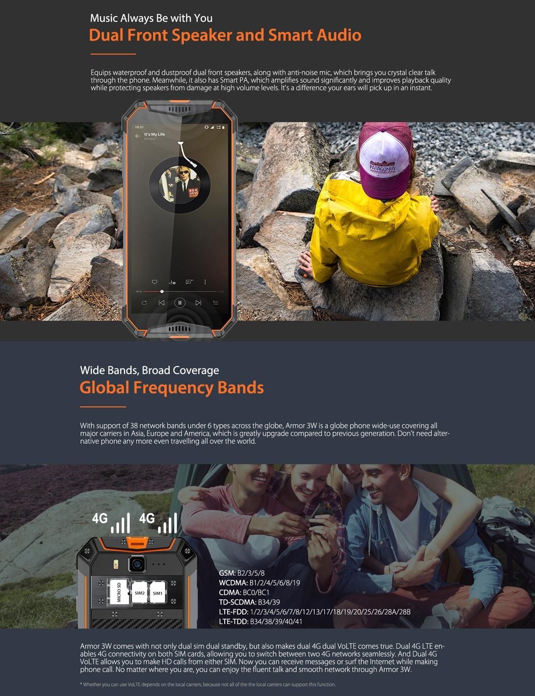 Ulefone Armor 3W Rugged Phone Dual 4G 6GB+64GB (Orange) - 9