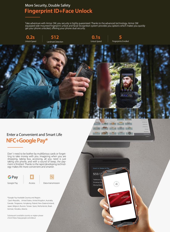 Ulefone Armor 3W Rugged Phone Dual 4G 6GB+64GB (Orange) - 7