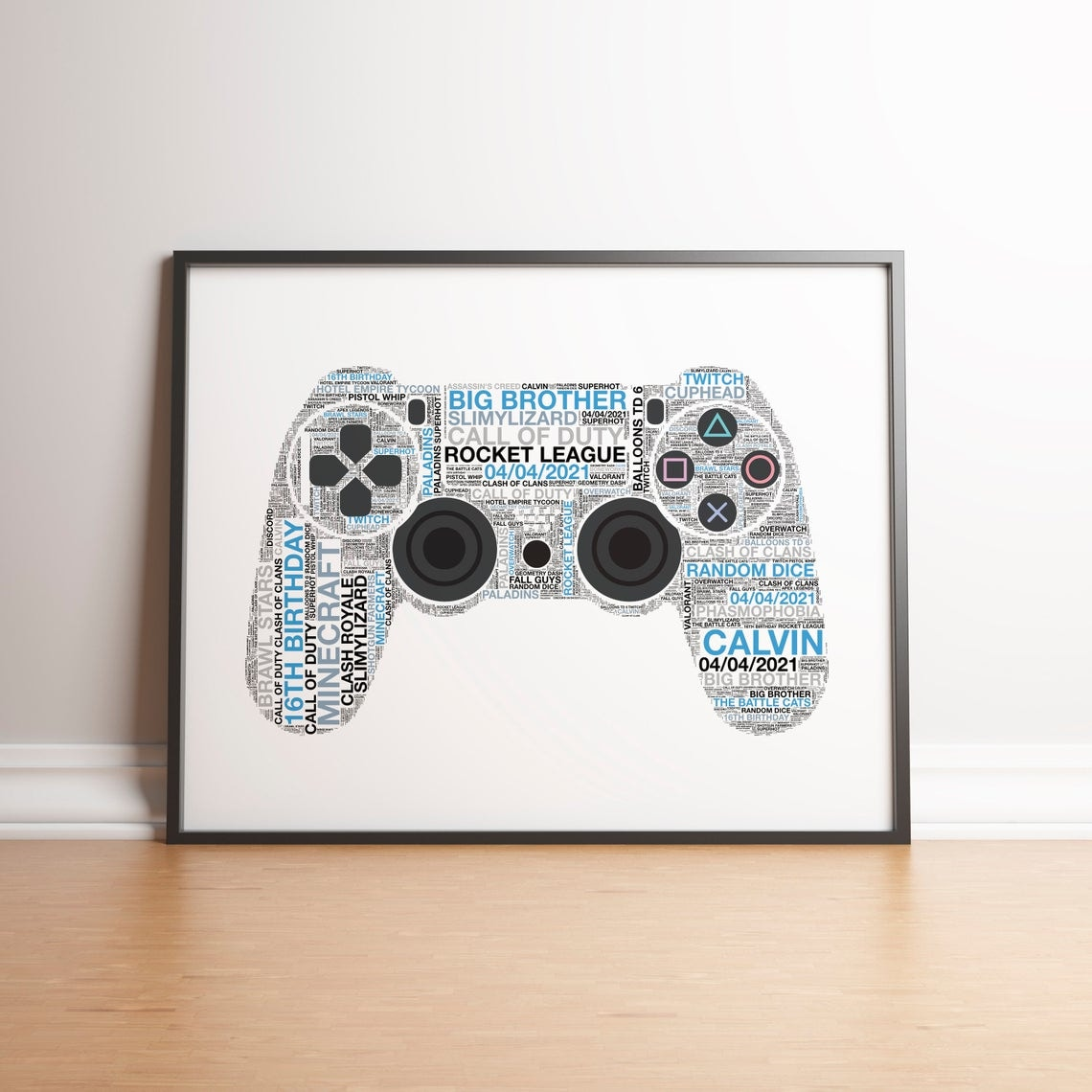 Personalised Playstation 4 Controller Print - 6