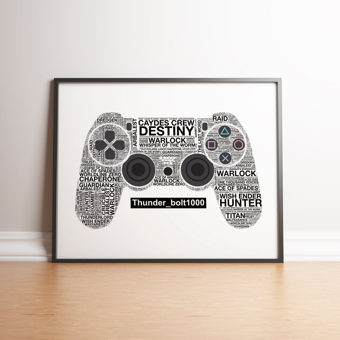 Personalised Playstation 4 Controller Print - 5
