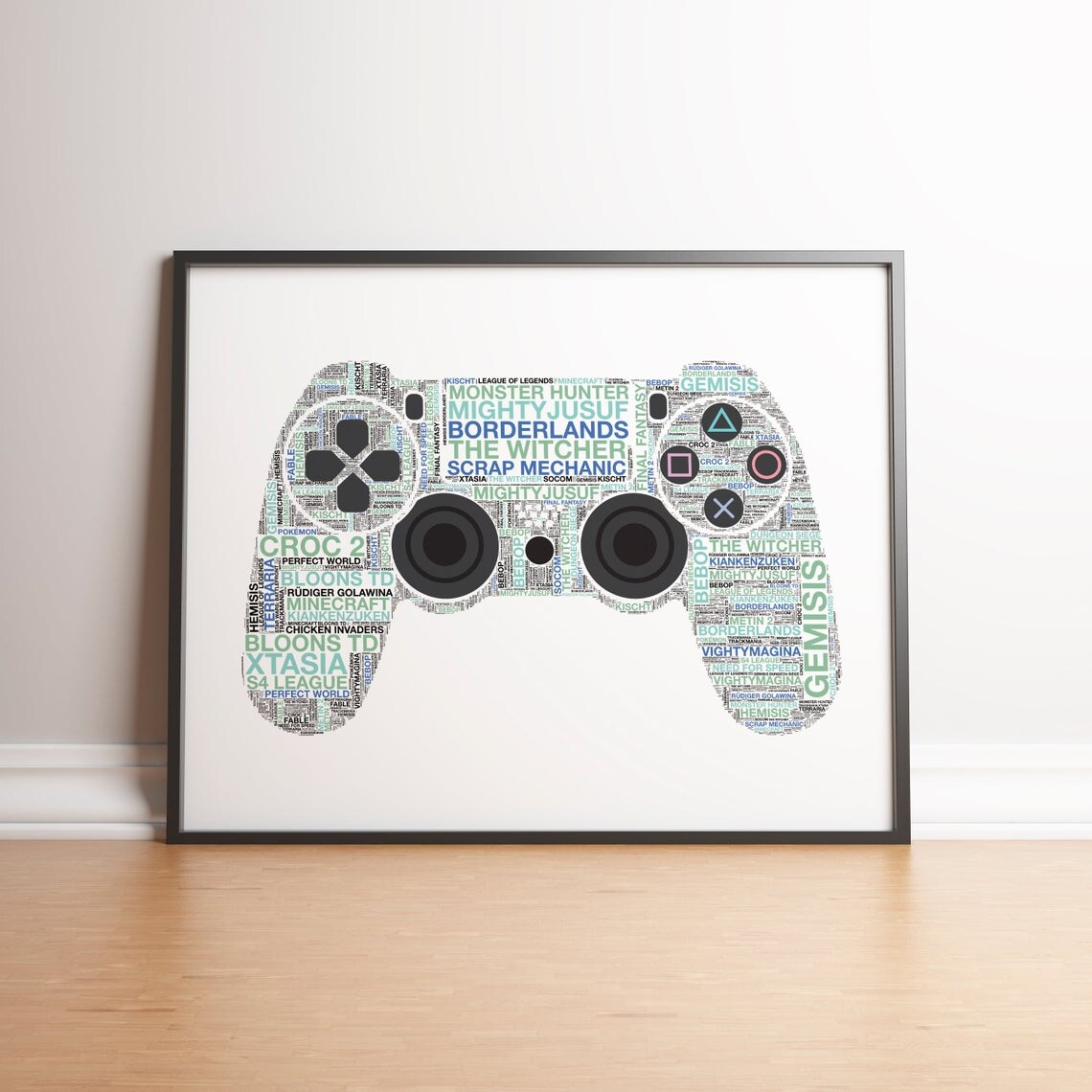 Personalised Playstation 4 Controller Print - 4