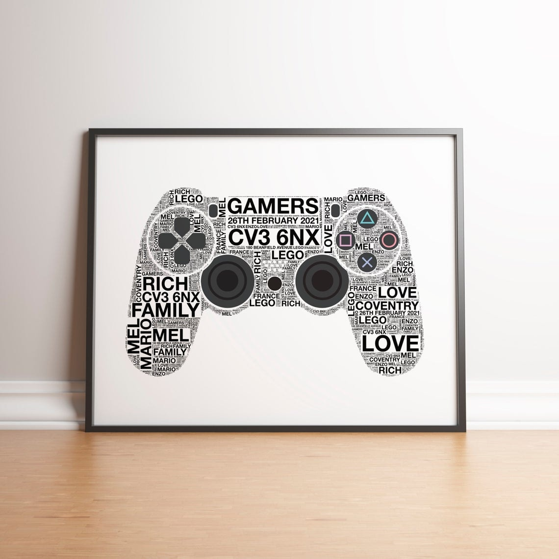 Personalised Playstation 4 Controller Print - 2