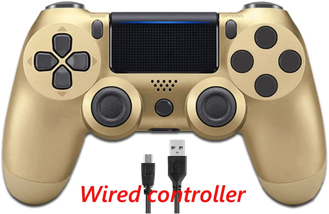 PS4 Wired Controller Dual Shock 4 Gamepad For Sony Playstation 4 Gold - 1