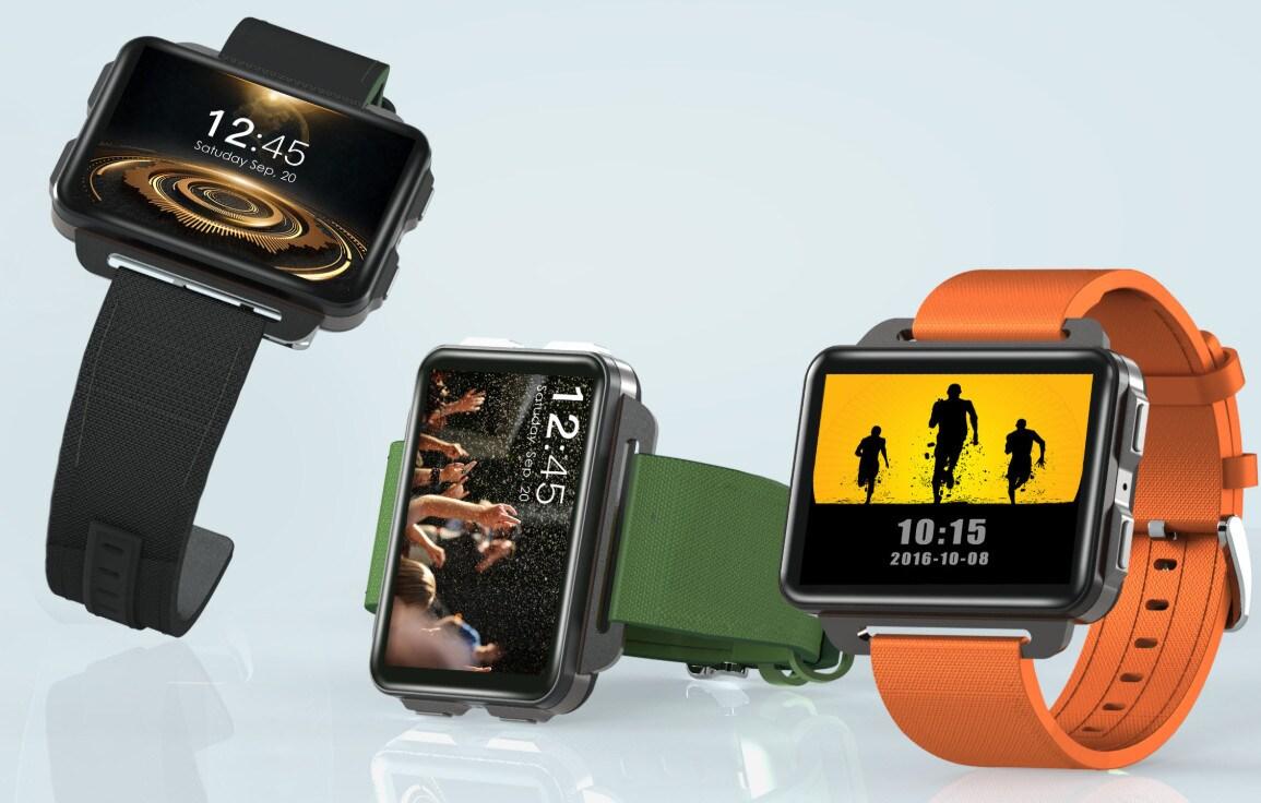 LEMFO LEM4 Pro 2.2 Inch Display 3G Smart Watch Android 5.1 1200mAh Lithium Battery 1GB + 16GB Wifi Take Video Orange - 1