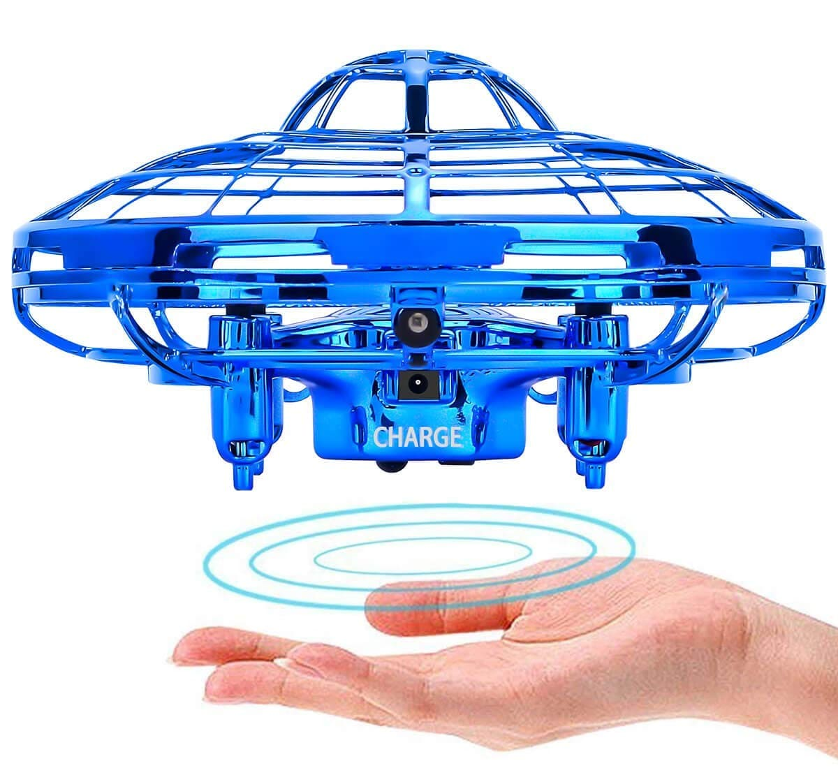 """Mini Quadcopter Drone - """"Force1 Scoot"""" Hands Free Hover Drone Blue - 4"""