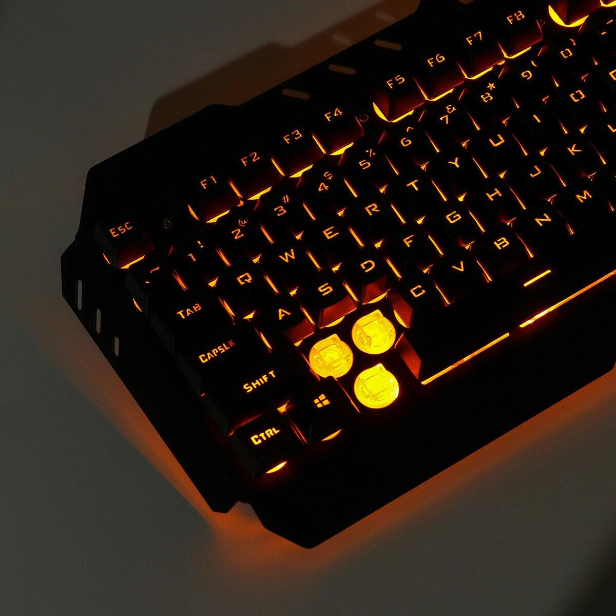 Desktop Gaming Keyboard + Mechanical Feel LED  Mouse with Light Backlit - 5