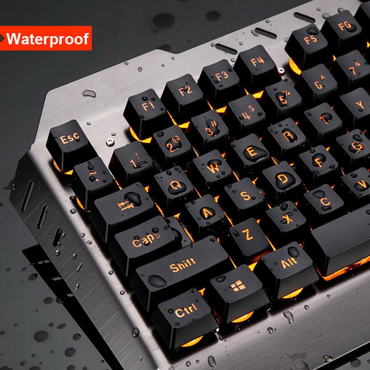 Desktop Gaming Keyboard + Mechanical Feel LED  Mouse with Light Backlit - 3