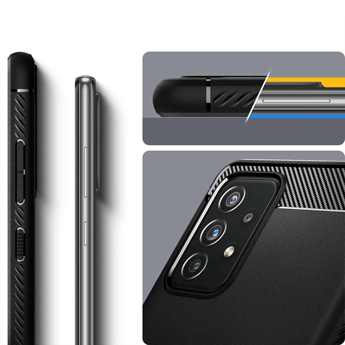Etui Spigen Rugged Armor do Samsung Galaxy A32 LTE Matte Black - 8