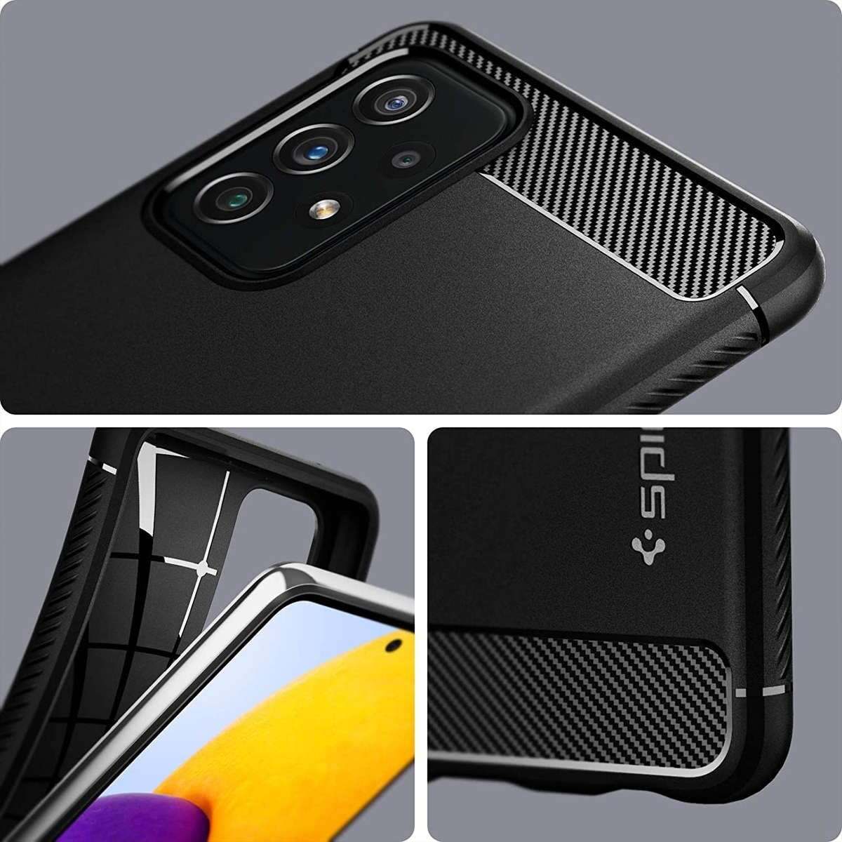 Etui Spigen Rugged Armor do Samsung Galaxy A32 LTE Matte Black - 9