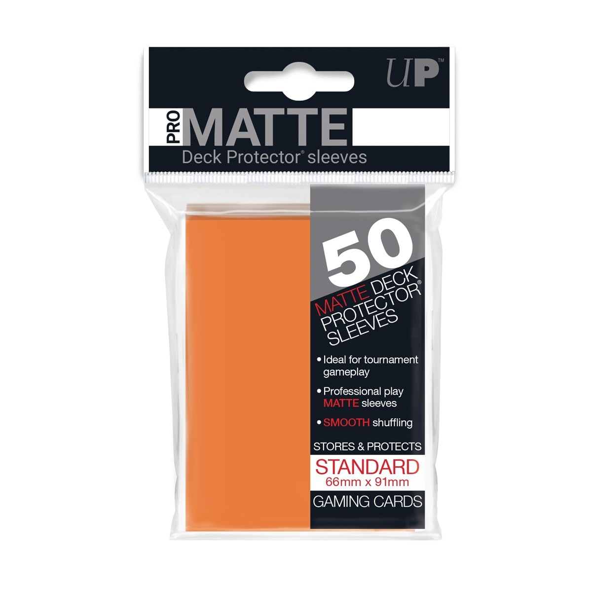 Ultra-Pro Koszulki Pro-Matte Standard 66x91 - Pomarańczowy (50szt) - 1