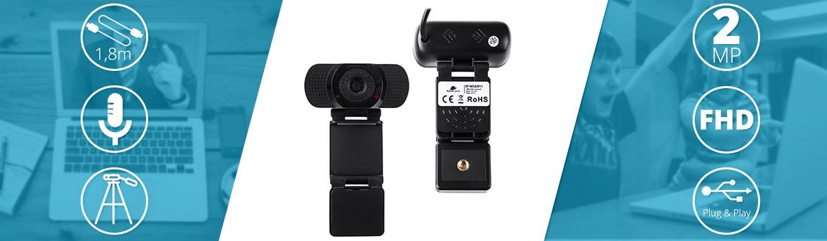 Gaming WebCam For Streaming USB FHD Microphone Camera Auto Focus SP-WCAM11 - 9