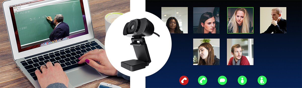 Gaming WebCam For Streaming USB FHD Microphone Camera Auto Focus SP-WCAM11 - 11