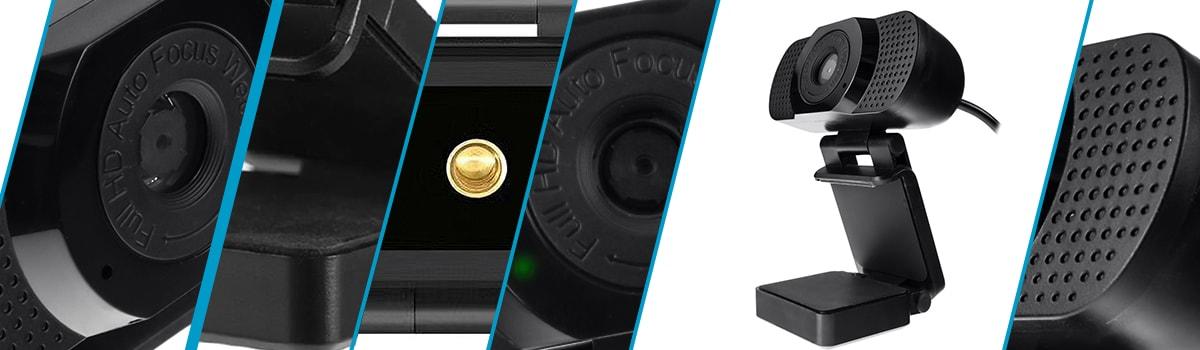 Gaming WebCam For Streaming USB FHD Microphone Camera Auto Focus SP-WCAM11 - 10