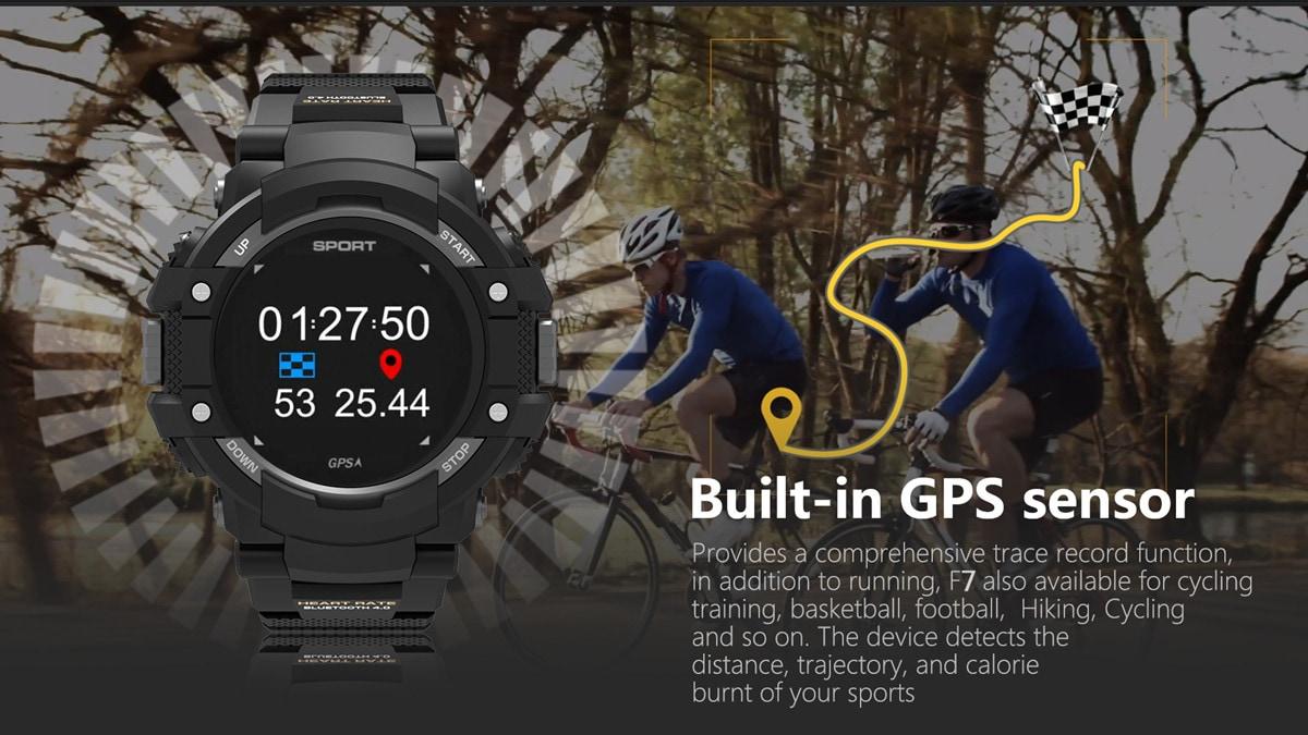 No.1 F7 Smartwatch - GPS, Bluetooth 4.2, Heart Rate, Pedometer, Sleep Monitor, Call Alert, IP67 Waterproof Gray - 9