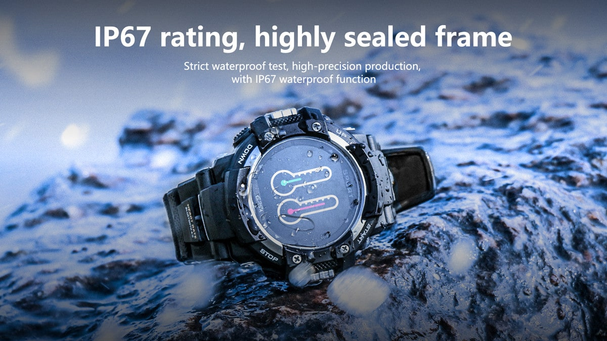 No.1 F7 Smartwatch - GPS, Bluetooth 4.2, Heart Rate, Pedometer, Sleep Monitor, Call Alert, IP67 Waterproof Gray - 7