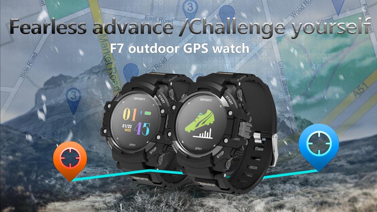 No.1 F7 Smartwatch - GPS, Bluetooth 4.2, Heart Rate, Pedometer, Sleep Monitor, Call Alert, IP67 Waterproof Gray - 2