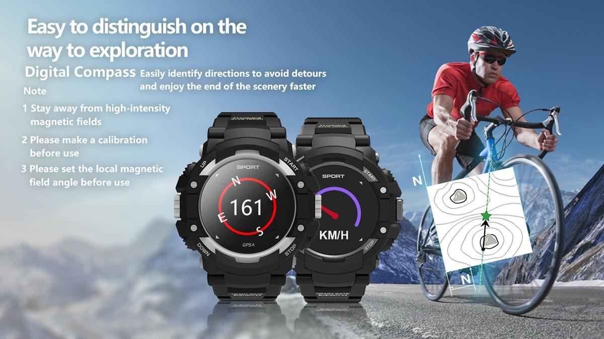 No.1 F7 Smartwatch - GPS, Bluetooth 4.2, Heart Rate, Pedometer, Sleep Monitor, Call Alert, IP67 Waterproof Gray - 1